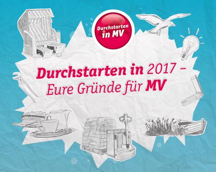 """""""Durchstarten in MV"""" sucht Eure Gründe für berufliche Perspektiven in Mecklenburg Vorpommern"""