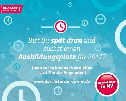 Last Minute-Ausbildungsplätze gibt es auf www.durchstarten-in-mv.de