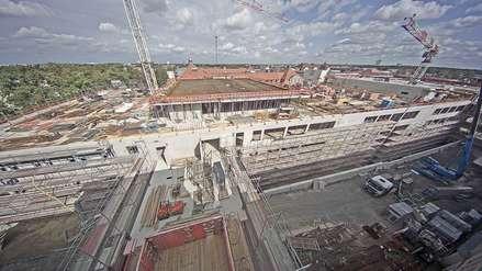 Blick auf die Baustelle des ZMF © Betrieb für Bau und Liegenschaften M-V