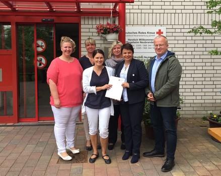 Ministerin Drese besucht das Pflegeheim Robert-Blum-Straße Neubrandenburg