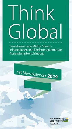 "Der neue Flyer ""Think Global"""