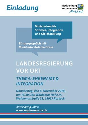 Bürgerforum mit Sozialministerin Drese am 8.11. in Rostock
