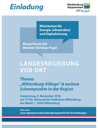 Bürgerforum mit Energieminister Christian Pegel in Wittenburg