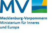 """Logo """"MV tut gut"""" mit der Unterzeile """"Ministerium für Inneres und Europa"""" (Interner Link: Startseite des Ministeriums für Inneres und Europa)"""