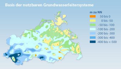 Karte der nutzbaren Grundwasserleitersysteme in Mecklenburg-Vorpommern<p>Grafik: PLANET IC</p>