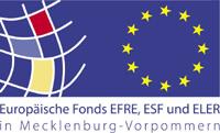 EU-Logo: Europäische Fonds EFRE, ESF und ELER in Mecklenburg-Vorpommern
