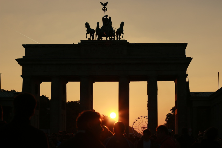 Brandenburger Tor in Berlin mit Quadriga
